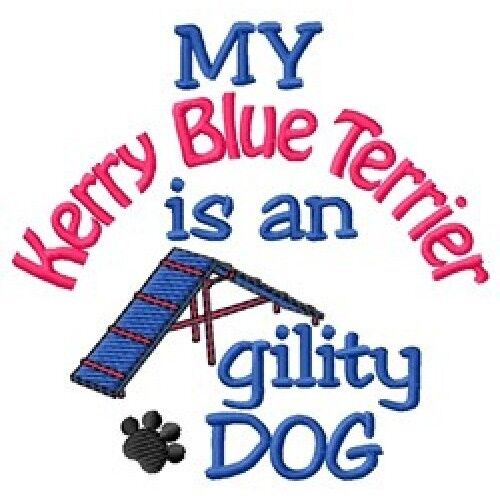 My Kerry Blue Terrier is An Agility Dog Short-Sleeved Tee - DC1954L