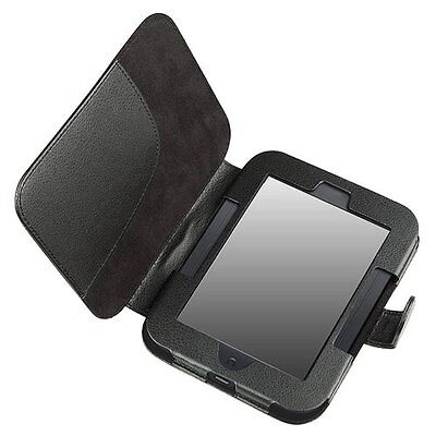 Leather Case for Barnes and Noble Nook Simple Touch with GlowLight , Black LW