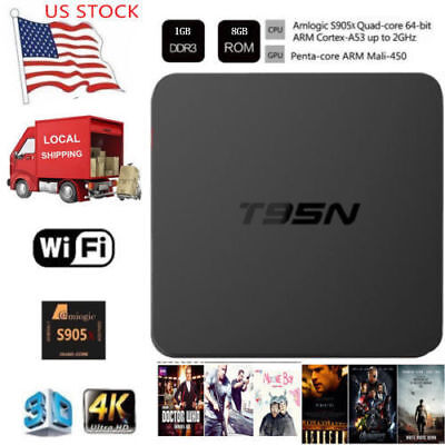 T95N 1+8G Android Quad Core 4K HD Smart TV BOX WIFI S905X Media Player HDMI New