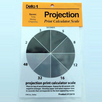 "Delta 1 Projection Print Calculator Scale 4x5"" perfect exposures time #12610"