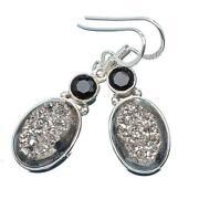 Sterling Hematite Earrings