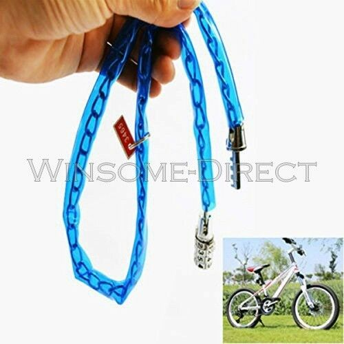 Bike Cycle Bicycle 65cm Barrel Combination Chain Lock Heavy Duty Safety Security