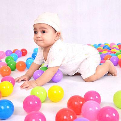 200pcs 5.5cm Secure Baby Kid Pit Toy Swim Fun Colorful Soft Plastic Ocean Ball