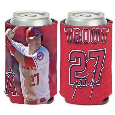 MIKE TROUT LOS ANGELES ANGELS NEOPRENE CAN BOTTLE COOZIE KOOZIE COOLER HOLDER