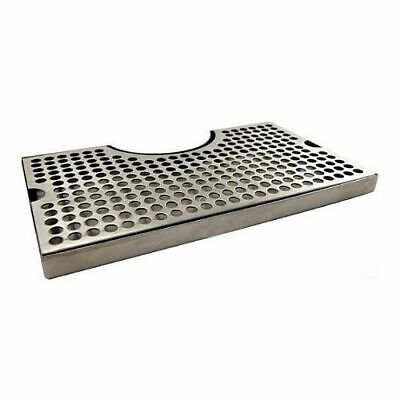 Stainless Steel Drip Tray With Cutout For Tower - Large 12 X 7 Beer Drip