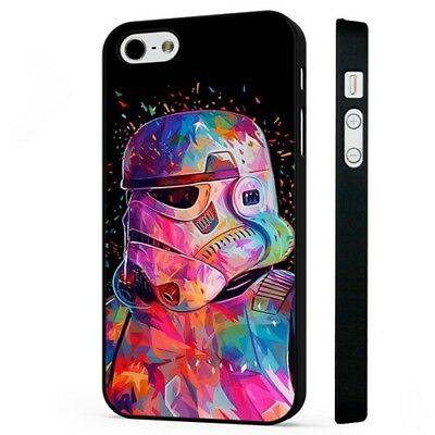 Colourful Stormtrooper Star Wars BLACK PHONE CASE COVER fits iPHONE