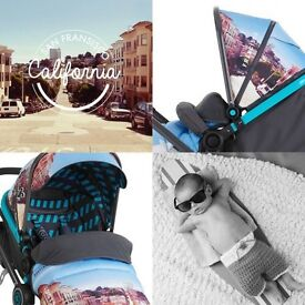 Stunning Travel System Pram with upstart infant car seat. AS NEW £150***