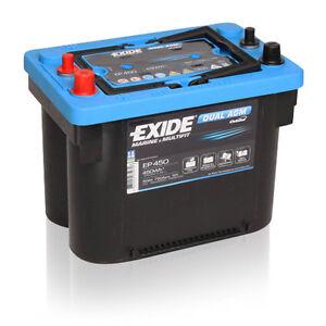 exide ep450 12v 50ah dual agm maxxima 900dc dual battery deep cycle ebay. Black Bedroom Furniture Sets. Home Design Ideas