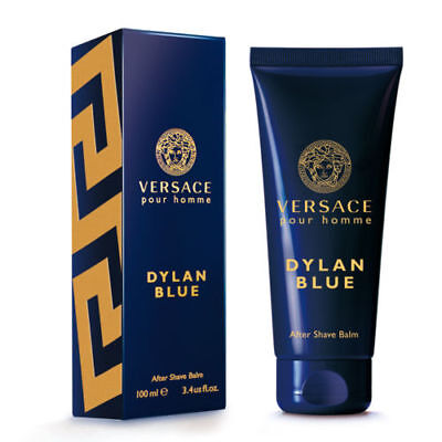 VERSACE  POUR HOMME DYLAN BLUE 100ML AFTER SHAVE BALM BRAND NEW & SEALED