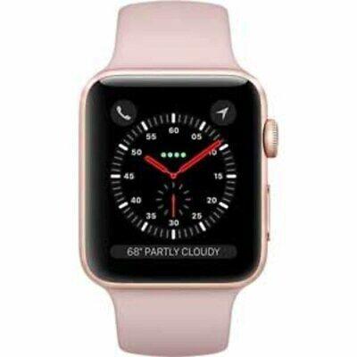 Apple Watch Series 3 42mm Smart Watch - Gold/Pink (MQK32LL/A)