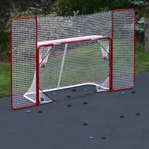EZ Goal with Hockey Rebounder and Targets & Artificial Ice