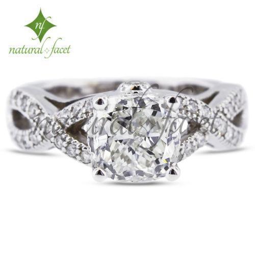 2 Carat Cushion Cut Diamond Wedding Engagement Ring