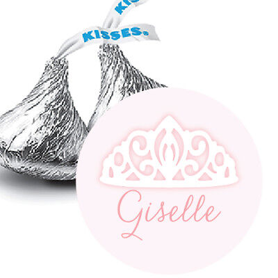 108 Tiara Baby Girl Personalized Hershey Kiss Labels Stickers Favors Baby Shower (Personalized Baby Shower Favors)