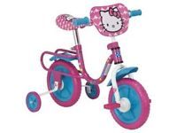 """Hello Kitty 10"""" Kids' Bike with Stabilisers - BOXED AND BRAND NEW"""