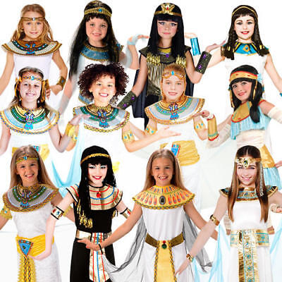Ancient Egypt Costumes For Girls (Ancient Egyptian Girls Fancy Dress Queen Cleopatra Egypt Childrens Kids)