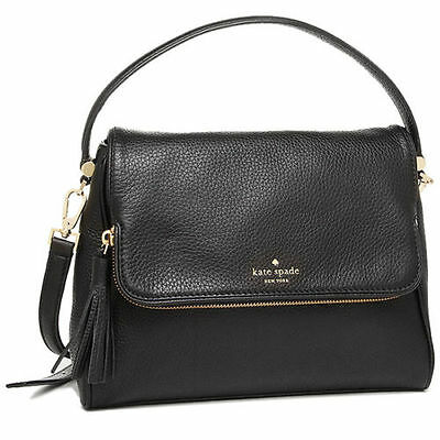 NWT KATE SPADE MIRI CHESTER STREET BLACK LEATHER SATCHEL CROSSBODY BAG HANDBAG