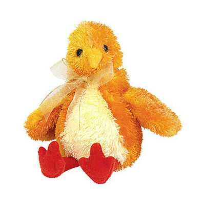 TY Basket Beanie Baby - CHICKIE the Chick (4.5 inch) - MWMT's Stuffed Animal Toy