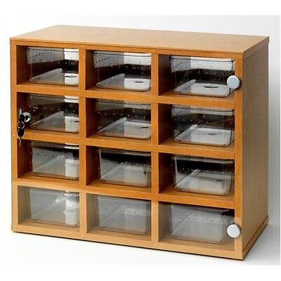 12 Tub Hatchling Snake Rack, Perfect for baby ball pythons / corn snakes