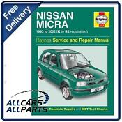 Haynes Workshop Manual Nissan Micra