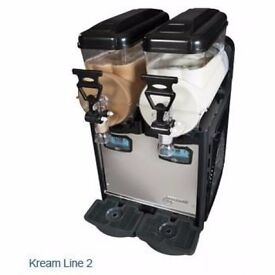 Kream line slush machine 2x6ltr,made in italy,12 months warranty/collection only,£830+VAT