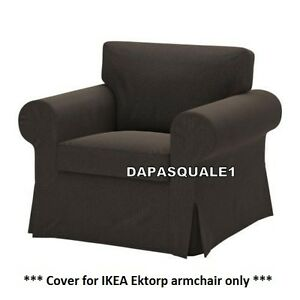 IKEA-EKTORP-Slipcover-cover-for-Armchair-Korndal-Brown-cover-only