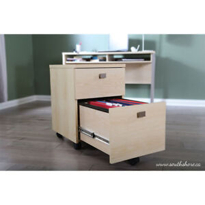 South Shore Interface Mobile Cabinet - Natural Maple
