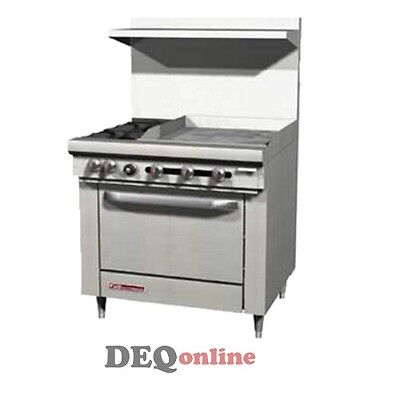 Southbend S36d-2g 36 Gas Range W Standard Oven 2 Open Burners W 24 Griddle
