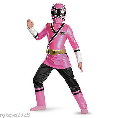 Pink Samurai Ranger Costume (Power Rangers Samurai Pink Ranger Deluxe Child Costume Size 10-12 Large New )