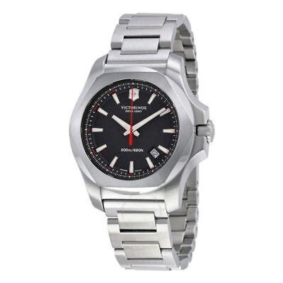 Men s Victorinox Swiss Army I.N.O.X. Black Dial Swiss Made Quartz Watch  241723.1 eff03378449