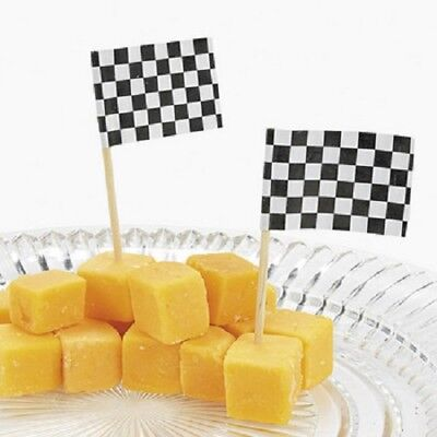 Flag Picks (Lot of 144 Checkered Flag Race Car Food Snack Party)