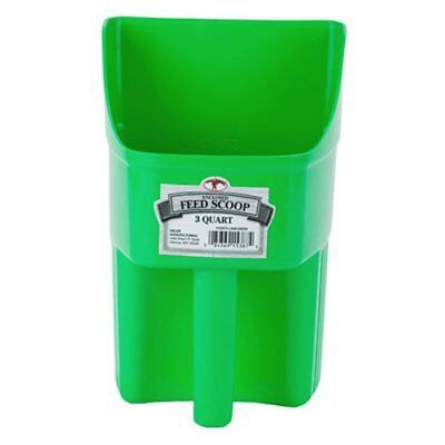 Little Giant 3-Quart Enclosed Feed Scoop Lime Green Miller Enclosed Feed Scoop