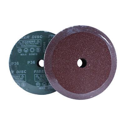 25 Pack 7 Black Hawk 36 Grit Ao Resin Fiber Disc Grinding Sanding Discs