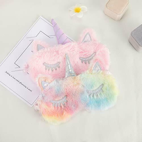 unicorn sleeping mask 2 pack girls soft