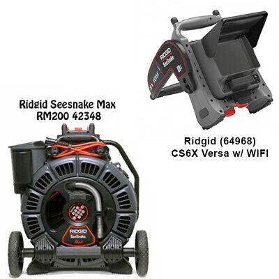 Ridgid Seesnake Max Reel 42348 D2b Reel Cs6x Versa Monitor With Wifi 64968