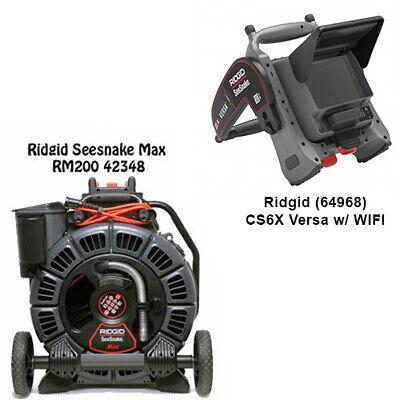 Ridgid Seesnake Max Reel 42348 D2b Reel Cs6x Versa Monitor With Wifi 64968