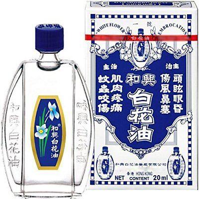White Flower Oils Embrocation Analgesic Balm Hoe Hin Pak Fah Yeow 20 Ml 0.67