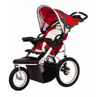Schwinn Turismo Single Swivel Stroller - Red with Grey Accents