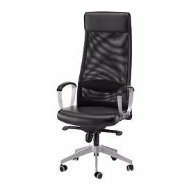 IKEA MARKUS Swivel Office chair, black Glose Robust black - Ergonomic design