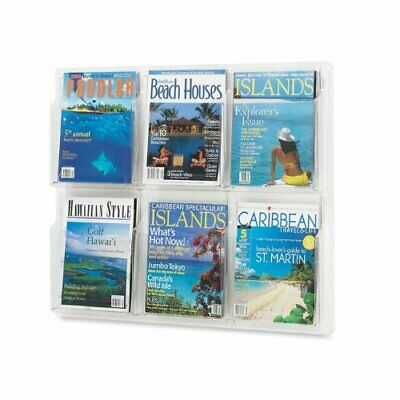 Safco Six Magazines Literature Display Rack - 24.6 Height X 30 Width X 2