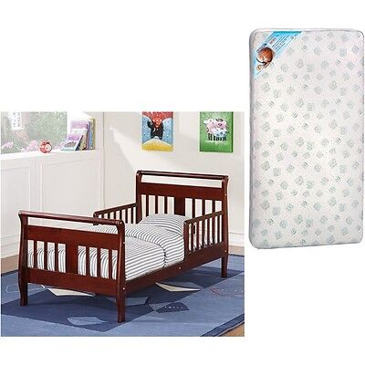 Toddler Bed and MATTRESS Boys Girls Baby Kids Bed with Mattress PICK COLOR NEW