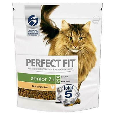 Perfect Fit 7+ Dry Cat Food Advanced Nutrition for Senior Cats with Chicken,