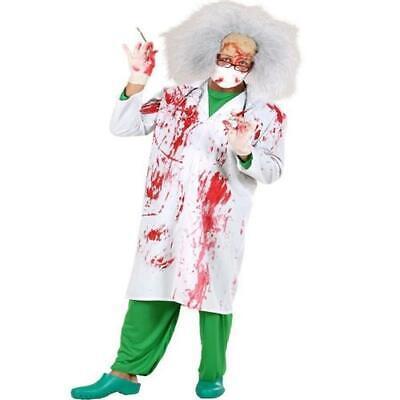 Blutiger DOKTOR KITTEL 52/54  (L) Arzt Kittel - Kittel Halloween Kostüm