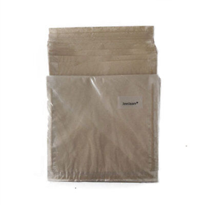 50 BROWN PAPER FILM FRONTED BAGS CLEAR FRONT WINDOW 7