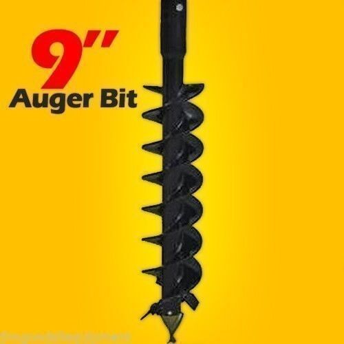 "9"" Skid Steer Auger Bit, McMillen HDC, For Difficult Digging, 2"" Hex Drive"