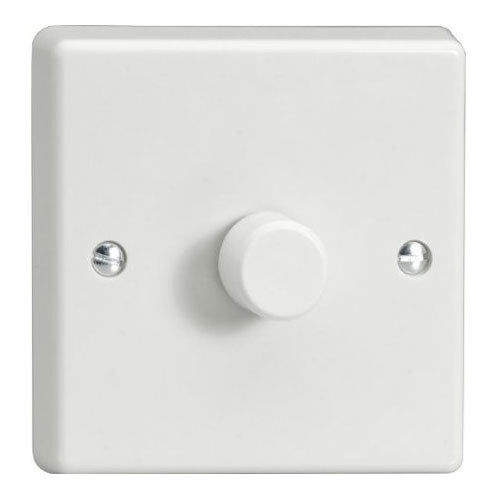 Dimmer switch 400w Turn On Off for Lighting Circuits White Plastic Free Post