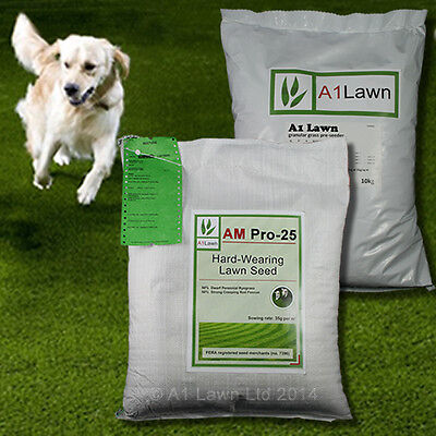 HARD-WEARING GRASS SEED 10kg & PRE-SEEDER FERTILISER 10kg (MULTI-SAVE PACK)