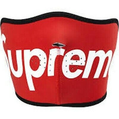 Red Supreme Balaclava Face Mask. |Anti Dust | Red| Black | Balaclava |Washable|