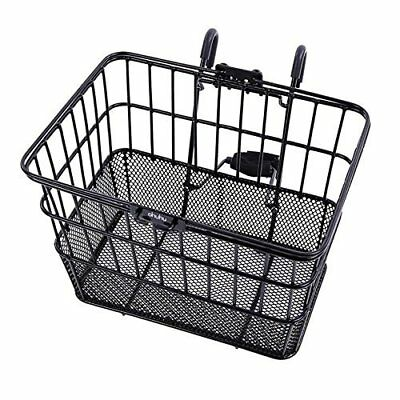 Rust-Proof Quick Release Wire Front Handlebar Bicycle Basket With Holder USA
