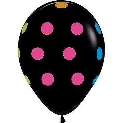 50 NEON UV Black Polka Dots 11