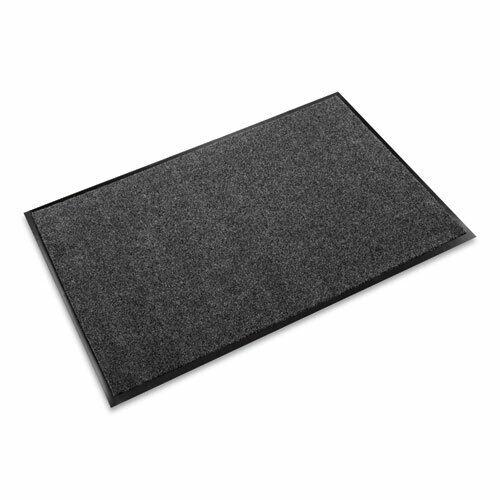 """Crown EcoStep Mat (36"""" × 120"""") P.E.T. Fiber Surface Wiper Mat (Charcoal) New"""